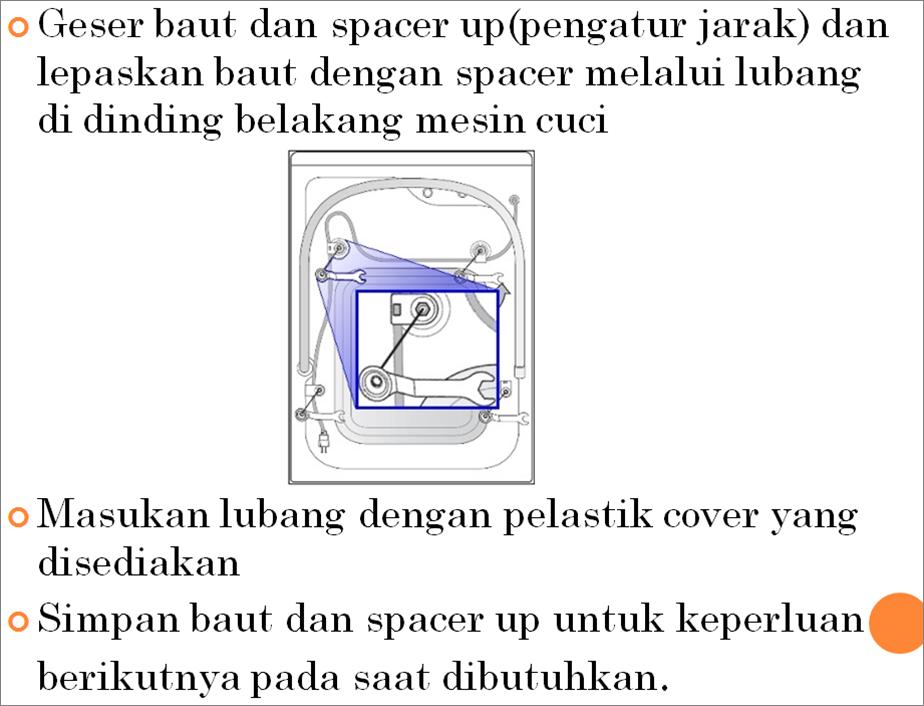 Cara instalasi mesin Samsung Model Front Loading :