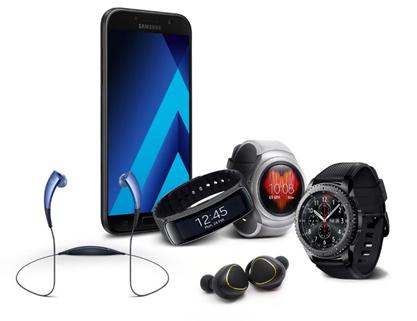 Apa saja wearable device yang support dengan Samsung A series 2017?