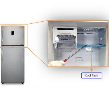 Apa fungsi coolpack pada refrigerator dua pintu Samsung?