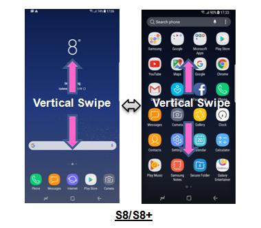 Saya tidak menemukan tombol ikon Apps pada Galaxy S8 atau S8+