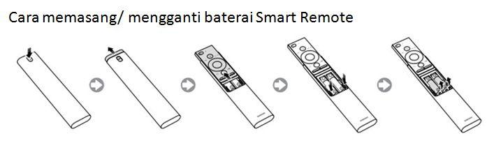 Bagaimana cara memasang/ mengganti baterai Smart Remote QLED Q7F TV?