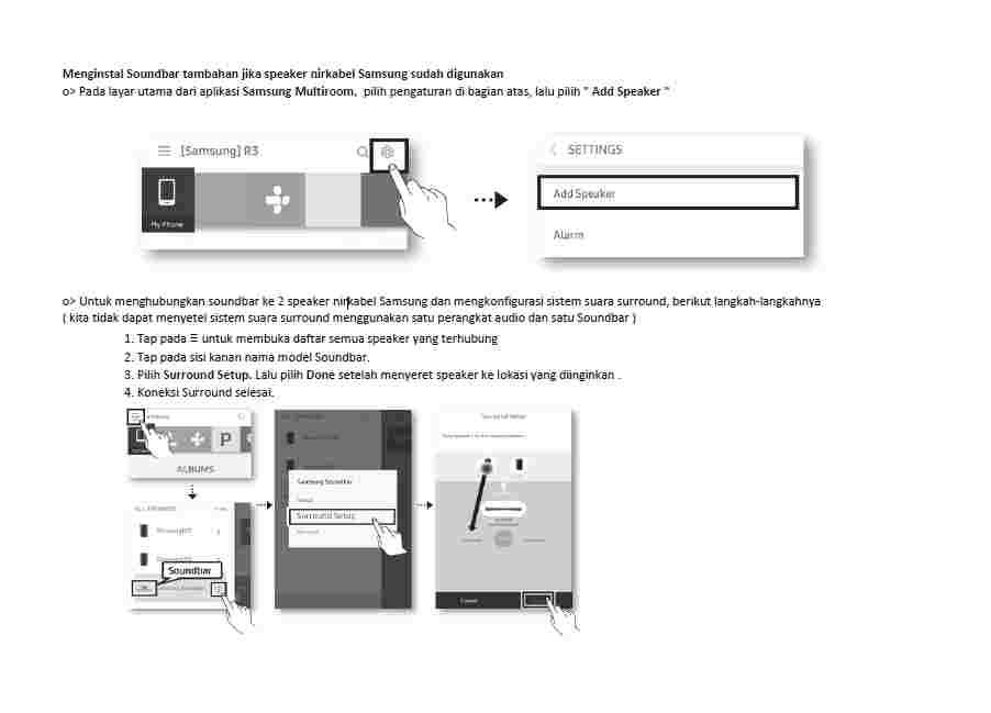 Cara Menginstal Soundbar tambahan jika speaker nirkabel Samsung sudah digunakan