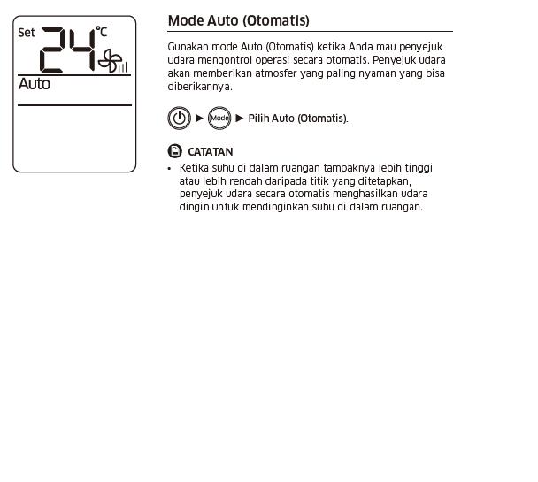 Apa fungsi mode Auto pada AC Samsung?