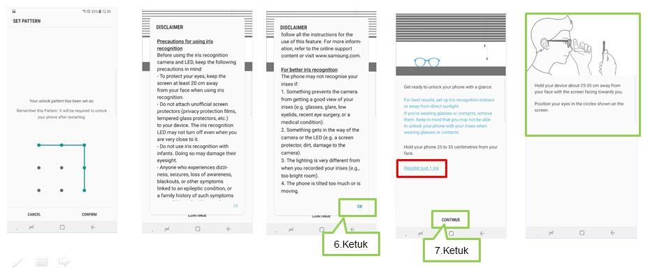 Bagaimana cara mengaktifkan Iris Scanning pada Note 8?
