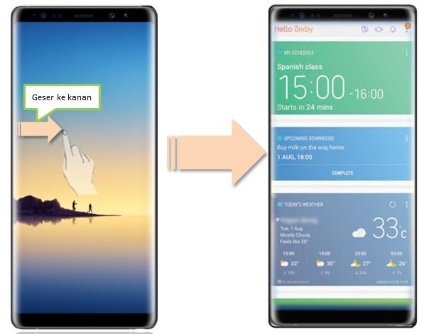 Bagaimana cara mengaktifkan Bixby pada Note 8?