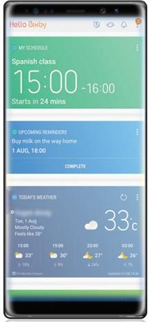 Aplikasi apa saja yang tersedia pada Bixby Note 8?