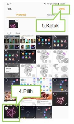 Bagaimana cara menggunakan PENUP pada Note 8?