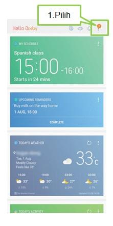Cara mengatur tampilan Cards pada Bixby Note 8