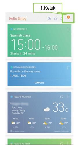 Cara mengatur pilihan Bahasa pada Bixby Voice Note 8