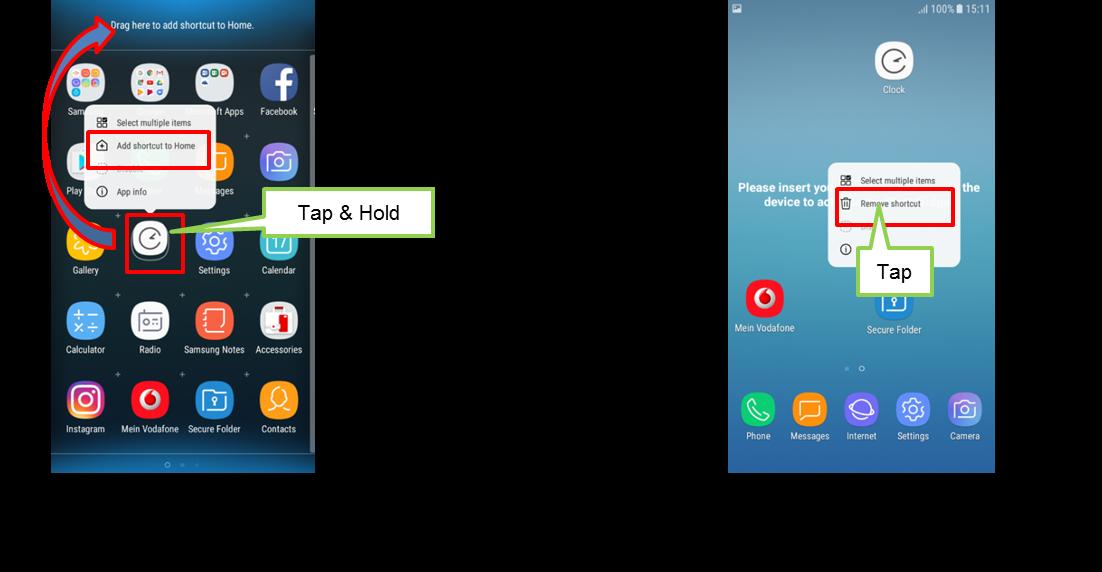 Bagaimana caranya menambah atau menghapus shortcut pada Home Screen di Galaxy J 2017?