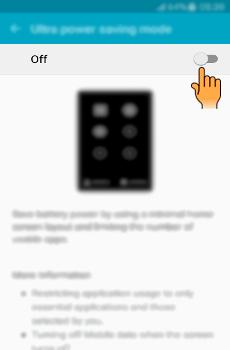 Bagaimana cara mengaktifkan Ultra Power Saving mode pada Samsung Galaxy J5 (SM J500G)?