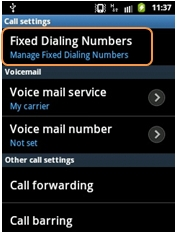 What is FDN in Samsung Phones?