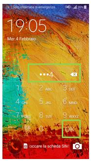 Schermata nuova SIM