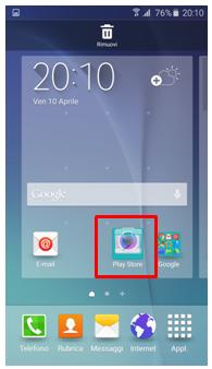 Vai sulla schermata Home e seleziona l'applicazione che desideri inserire in una cartella, trascinandola sopra un'altra app.2