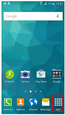 Dalla schermata di standby, seleziona Applicazioni