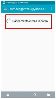 Complimenti! Hai appena completato la configurazione della casella di posta elettronica sul tuo Galaxy S5