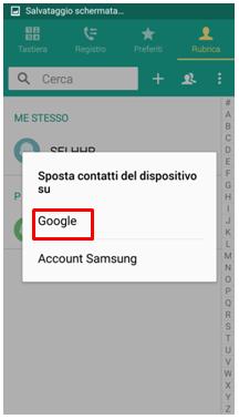Seleziona Google