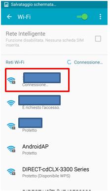 Il telefono ricevera un indirizzo IP e si colleghera alla rete