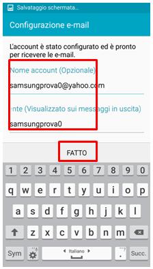 Assegna il Nome account ed il Nome utente