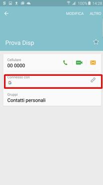 In questo modo i contatti dal dispositivo passeranno sul Account Google