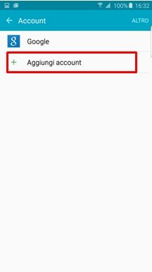 Aggiungi account