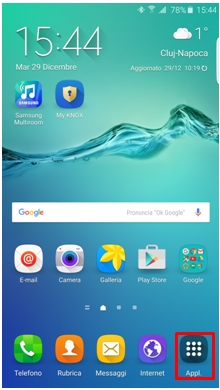 Applicazione Samsung Gear dal tuo telefonino mobile