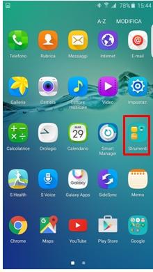 Strumenti Samsung gear app
