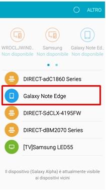 Il Galaxy Alpha cercherà i dispositivi vicini