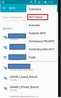 Seleziona Wi-Fi Direct