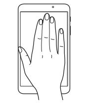手で画面を覆うことで消音または一時停止します。