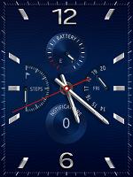 1.時計画面で、画面の下端から上方向に指で画面を動かし、アプリ一覧画面を表示させます。