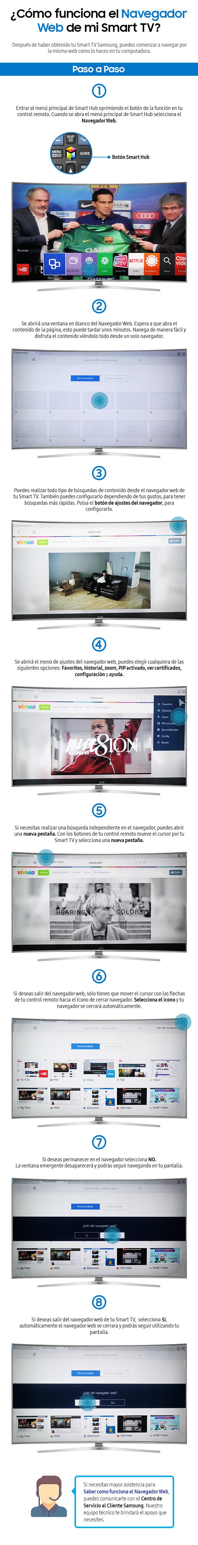 Cómo funciona el navegador web de mi smart tv