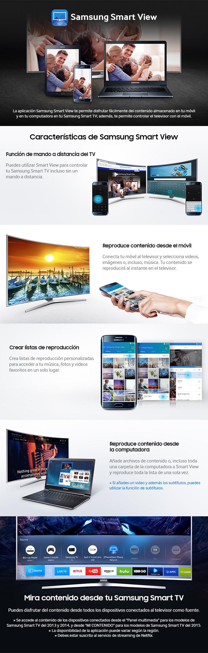 Características de Samsung Smart View