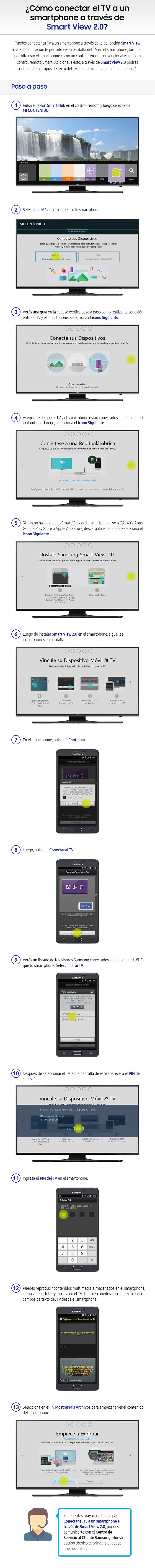 Como conectar el TV a un smartphone a través de Smart View 2