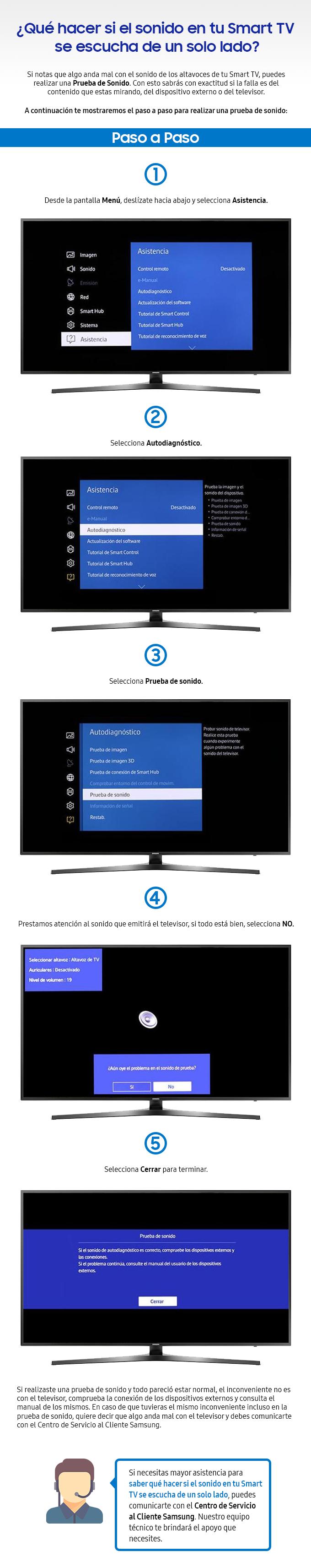 Qué hacer si el sonido en tu Smart TV se escucha de un solo lado
