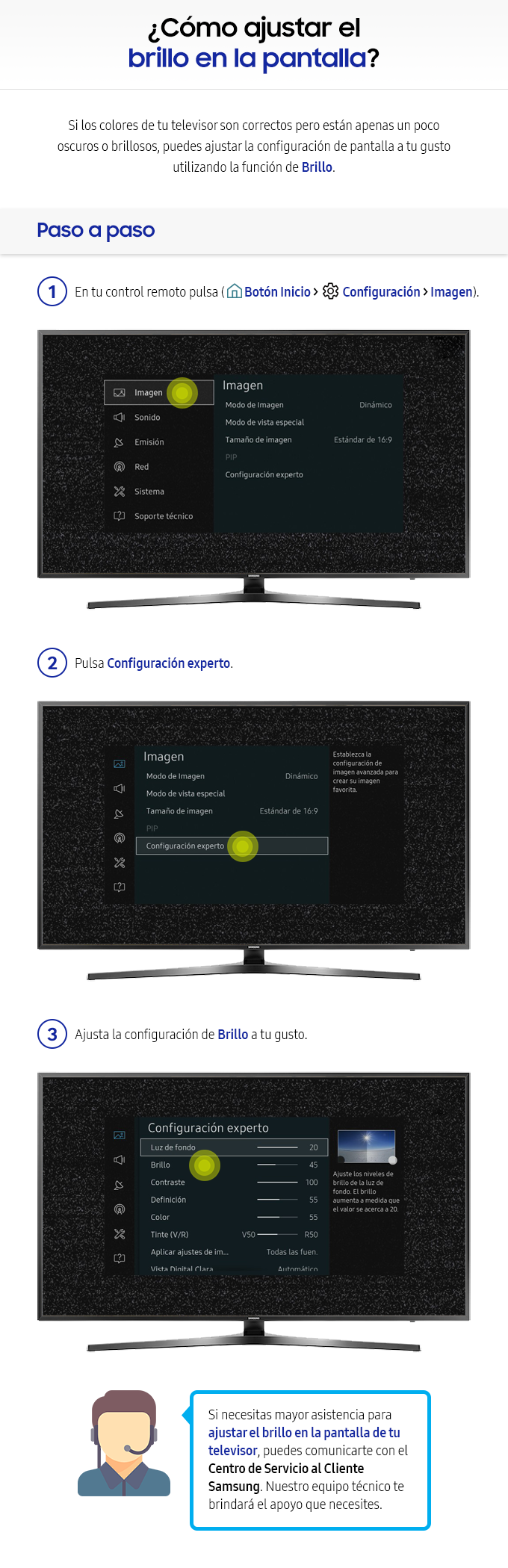 Cómo ajustar el brillo en la pantalla