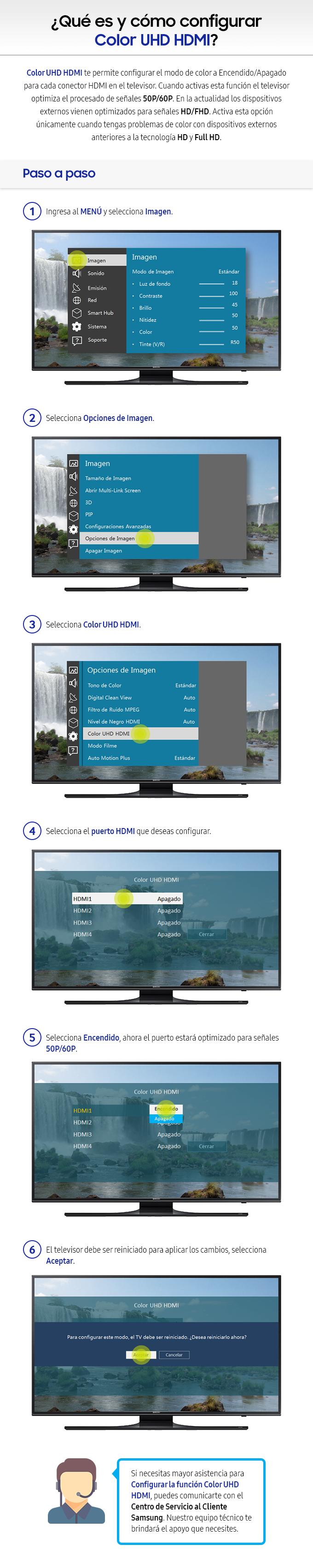 Qué es y cómo configurar Color UHD HDMI