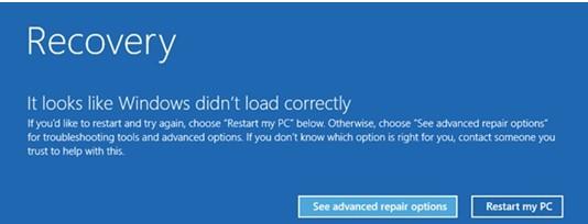Que faire si l'écran de mon ordinateur est bleu au démarrage avec un avis de réparation ?