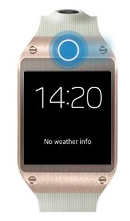 Que peut-on ajuster dans les paramètres d'affichage de la Samsung Galaxy Gear ?