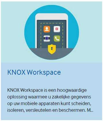 Comment puis-je installer une application dans l'environnement Samsung Knox ?
