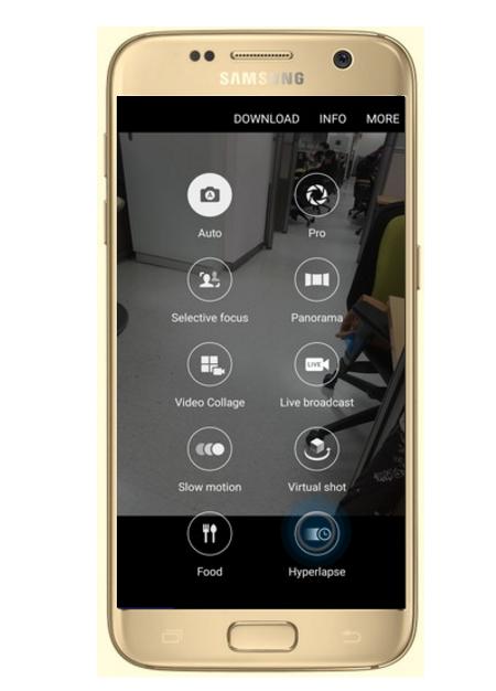Comment fonctionne l'option Hyperlapse sur mon Galaxy S7/S7 Edge ?