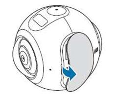 Comment puis-je installer une carte SD sur ma Samsung Gear 360 ?