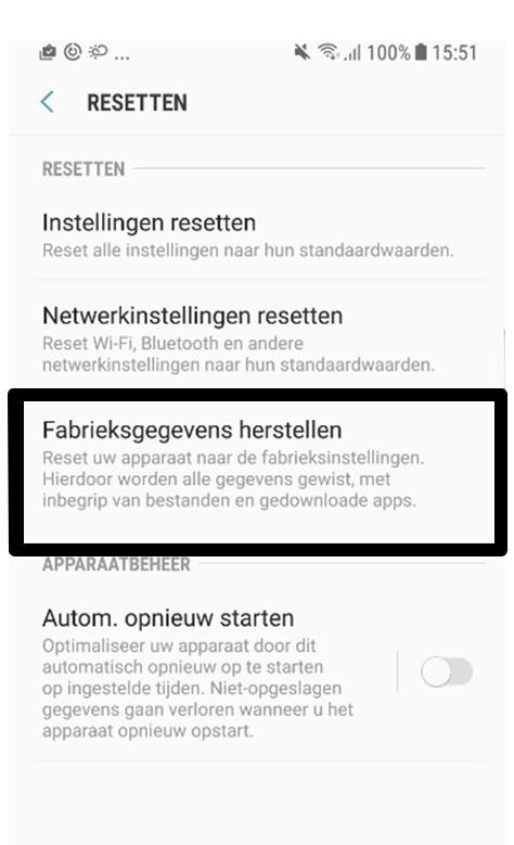 Comment réinitialiser mon smartphone/tablette ou restaurer les paramètres d'usine ?