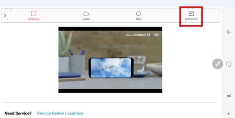 Hoe maak ik een GIF met Slim selecteren op de Galaxy Note8?