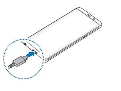 Koble USB-kabelen til USB-strømadapteren og plugg USB-kabelen i universalkontakten på enheten