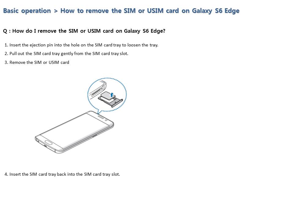 S6 Edge nano sim removal