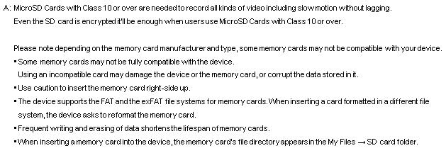 S7 SD card