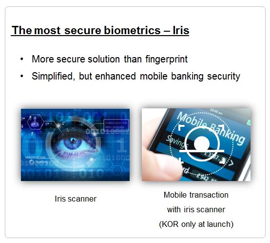 S8-Main New features > Iris scanner