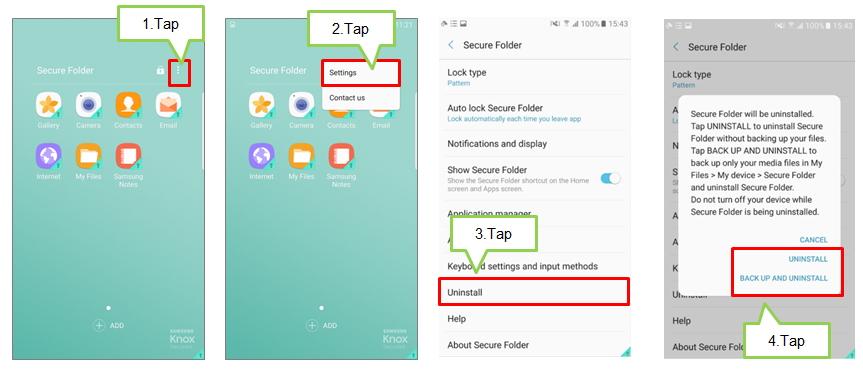 Galaxy J5/J7 2017: Secure Folder > How to uninstall Secure Folder?
