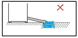 position the drain hose
